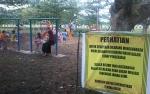 Masih Dalam Pengerjaan, Wahana Permainan di Kompleks Lapangan Sport Center Kasongan Sudah Ramai