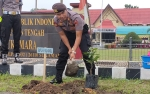 Polres Sukamara Jadikan Penanaman Pohon Sebagai Agenda Rutin