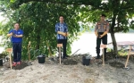 Peduli Penghijauan, Polres Barito Utara Tanam 429 Bibit Pohon Bervariasi