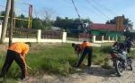 Polsek Pangkalan Banteng Laksanakan Olahraga dan Kerja Bakti