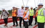 Bupati Katingan Tinjau Pekerjaan Jembatan Tumbang Samba