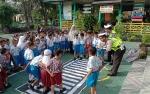 Satlantas Polres Kobar Kenalkan Rambu Lalu Lintas kepada Anak TK
