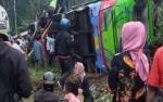 Sopir Meninggal, Bus Rombongan Wisata dari Depok