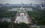 Kontraktor Akan Bangun Kolam dan Plaza di Area Revitalisasi Monas