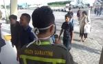 Waspada Virus Corona, KKP Sampit Gunakan Alat Thermoscanner Portable di Bandara H Asan Sampit