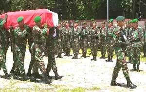 Tembakan Salvo Iringi Pemakaman Veteran Pejuang Kemerdekaan Prajurit Dua Arun Tion Soeling