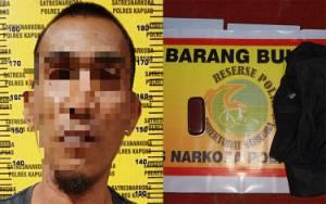 Satresnarkoba Polres Kapuas Ringkus Pembawa 2 Paket Sabu