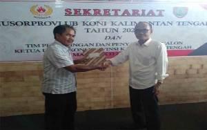 Bupati Barito Selatan Daftar Calon Ketua KONI Kalteng