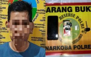 Polisi Amankan Laki-Laki Ini Setelah Ketahuan?Tempelkan Sabu di Bungkus Rokok