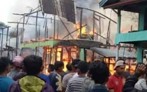 Tujuh Rumah di Murung Raya Hangus Terbakar
