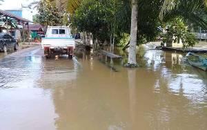 Banjir di Desa Tumbang Koling Genangi 35 Rumah