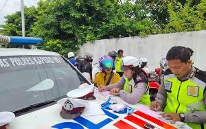 Satlantas Polres Kapuas Jaring 48 Pelanggar Lalu Lintas saat Razia Kendaraan