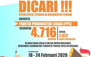 KPU Provinsi Kalteng Buka Penerimaan PPS Kelurahan