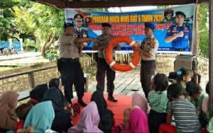Satpolair Polres Kapuas Sambangi Warga Pesisir Desa Lupak Dalam, Sosialisasi Ini...