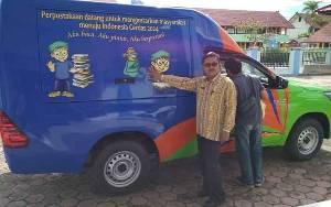 Dinas Perpustakaan dan Kerasipan Barito Selatan Dapat Bantuan Satu Unit Mobil Perpustakaan Keliling