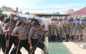 Persiapan Pengamanan Pilgub, Polres Seruyan Rutin Latihan Dalmas