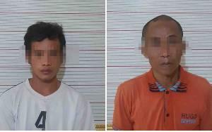Polres Kotawaringin Barat Amankan Dua Tersangka Pencurian Ratusan Kilogram Sawit