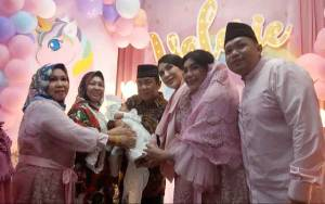 Tasmiyah Valerie Vinski Borneo Dibuka dengan Acara Adat Gudading