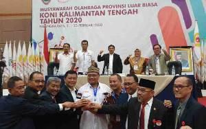 Eddy Raya Samsuri Terpilih Jadi Ketua KONI Kalteng Secara Aklamasi