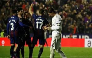 Real Madrid Dikejutkan Levante dan Gagal Kembali ke Puncak