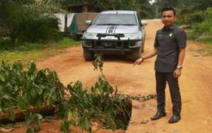 Jalan Penghubung di Desa Tumbang Koling Rusak Parah