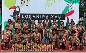 Saka Wira Kartika Kodim 1016 Palanka Raya Juara Umum 3 Lomba Pramuka ke XVIII