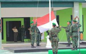 Kodim 1016/Palangka Raya Gelar Upacara Bendera, Ini Pesan Dandim