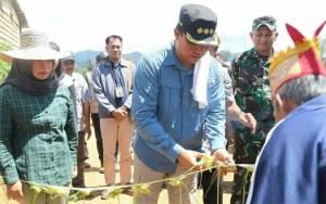 Bupati Lamandau Cek Infrastruktur Wilayah Batangkawa