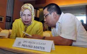 Terpilih Aklamasi, Ratu Tatu Chasanah Pimpin Golkar Banten Lagi