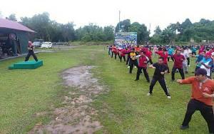 Anggota Kodim 1011 Kuala Kapuas Rutin Senam Bersama Tingkatkan Kebugaran