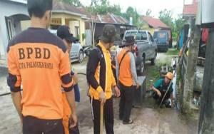 BPBD Kota Palangka Raya Bersihkan Drainase