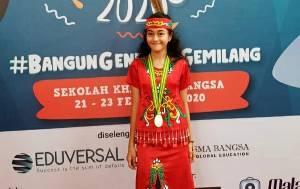 Bawakan Lagu Khas Daerah, Pelajar Asal Palangka Raya ini Juara 3 Lomba Tingkat Nasional