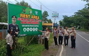 Polres Kapuas Sediakan Rest Area Bagi Jamaah Haul Guru Sekumpul