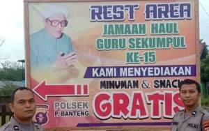Polsek Pangkalan Banteng Sediakan Rest Area untuk Jamaah Haul Guru Sekumpul