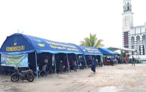 Jemaah Haul Guru Sekumpul Manfaatkan Rest Area Dinsos Kalteng