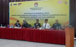 KPU Kapuas Bimtek 85 Anggota PPK Pasca Dilantik