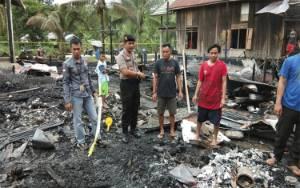 Kerugian Kebakaran di Desa Danau Usung Diperkirakan Ratusan Juta Rupiah