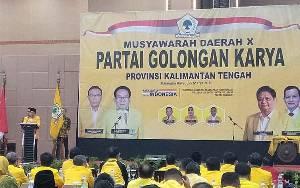 HM Ruslan AS Kembali Nahkodai Partai Golkar Kalteng
