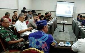 Danrem 102 Panju Panjung Hadiri Rakor Penyelenggaraan Pilkada Kalteng