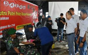 KBPP Polri Resor Kapuas Gelar Aksi Donor Darah Peringati Hari Jadi Kota Kuala kapuas