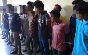 Puluhan Pengguna Sabu yang Ditangkap di Komplek Puntun akan Dilakukan Assesment di BNNP Kalteng