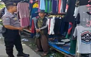 Polsek Kapuas Barat Antisipasi Tindak Kriminalitas dengan Patroli ke Pasar dan Objek Vital