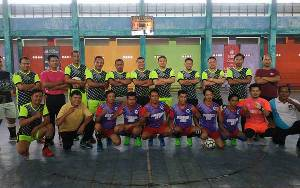 Tingkatkan Kemitraan, PWI dan Polres Seruyan Tanding Futsal