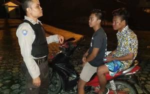 Polsek Katingan Hilir Patroli Malam untuk Antisipasi Gangguan Kamtibmas