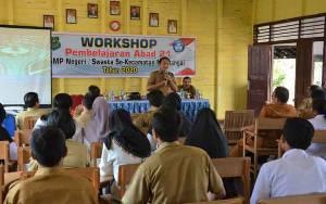 Dinas Pendidikan Kapuas Tingkatkan Kompetensi Guru Lewat Workshop Pembelajaran Abad 21