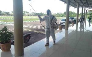 Cegah Virus Corona, Sejumlah Tempat di Kuala Pembuang Sudah Disemprot Disinfektan