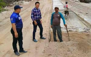 Pengecoran Jalan Lemo - Simpang Batapah Sudah 70 Persen