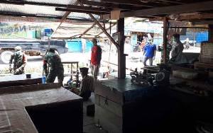 Pasar Saik Pembuang Hulu Disemprot Desinfektan
