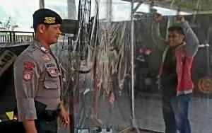 Polres Kapuas Sediakan Bilik Disinfektan di Pintu Masuk