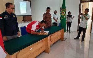 Pengadilan Negeri, Rutan Kelas IIB Tamiang Layang, dan Kajari Barito Timur MoU Lakukan Sidang Jarak Jauh untuk Cegah Covid-19